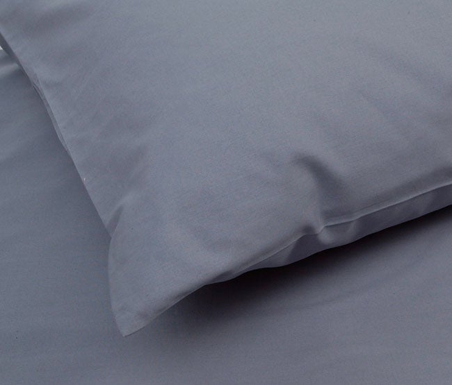 Solid Slate Blue 200 Thread Count Duvet Cover Set