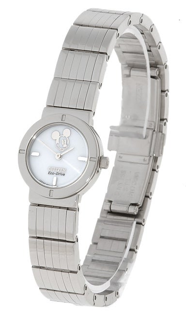 Citizen Women's Eco-Drive White Dial Mickey Mouse Watch