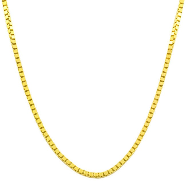 14k Gold 18-inch Box Chain Necklace