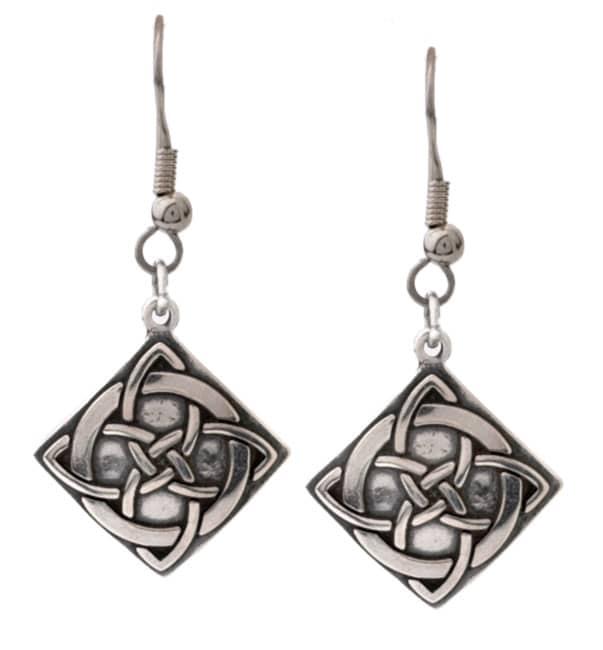 CGC Sterling Silver Celtic Vision Knot Earrings