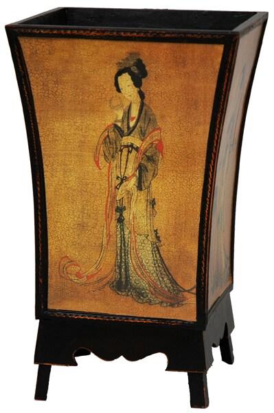 Enchanted Lady Waste Basket (China)