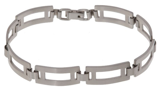 Eziba Collection Men's Stainless Steel Rectangular Link 8 inch 10 mm Bracelet at Sears.com