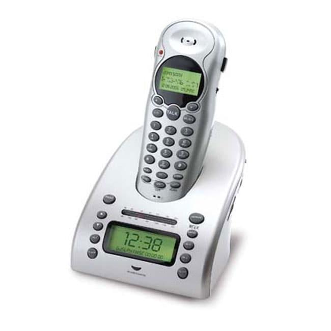 multi alarm clock radio w built in cordless phone 10088536 shopping great. Black Bedroom Furniture Sets. Home Design Ideas