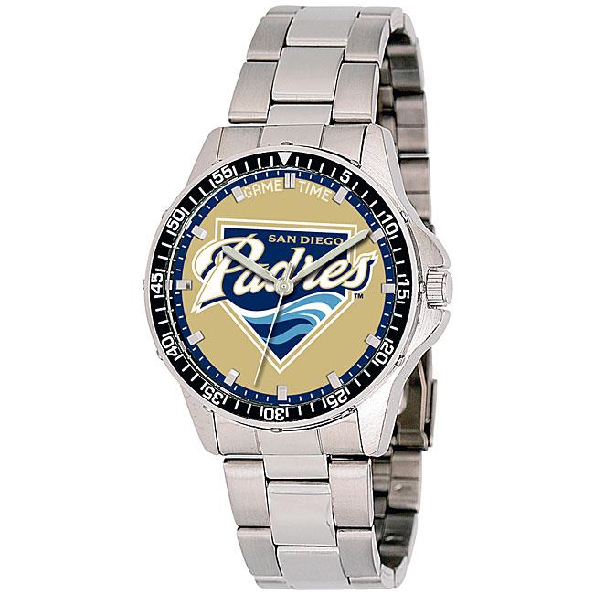 San Diego Padres Coach Series Steel Watch
