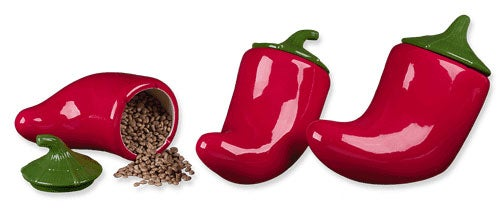 Red Hot Chili Pepper Canister Set