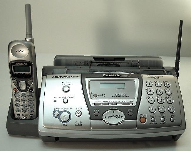 Panasonic KXFPG377 Plain Paper Fax w/2.4Ghz Cordless Phone (Refurbished)
