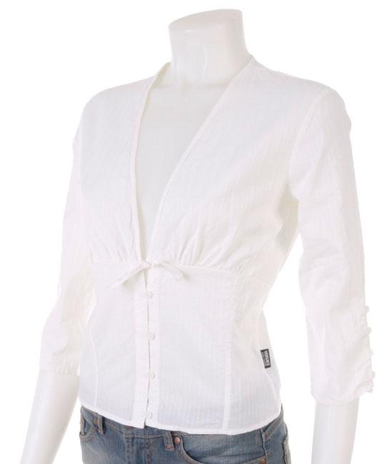 Versace White V-Neck Shirt