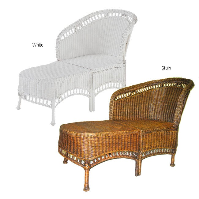 Wicker chaise lounge 10124357 shopping for Bamboo chaise lounge