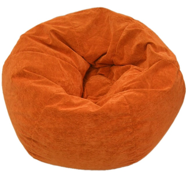 gold medal sueded corduroy kid 39 s orange beanbag chair 1013044 shopping great. Black Bedroom Furniture Sets. Home Design Ideas