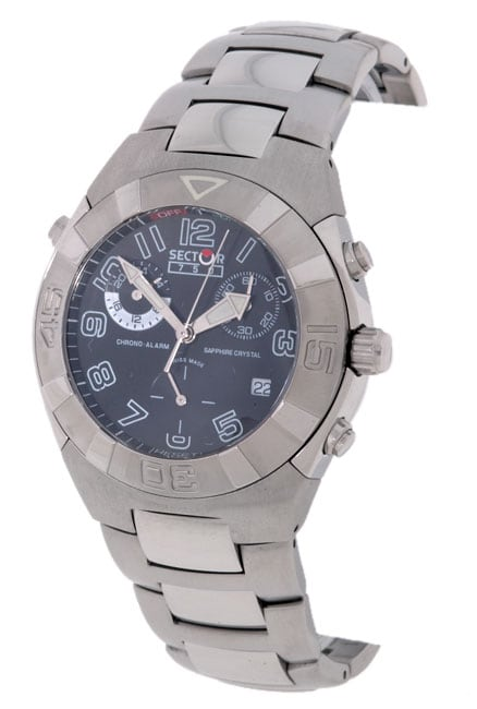 Sector 750 Men's Black Dial Stainless Chronograph Watch