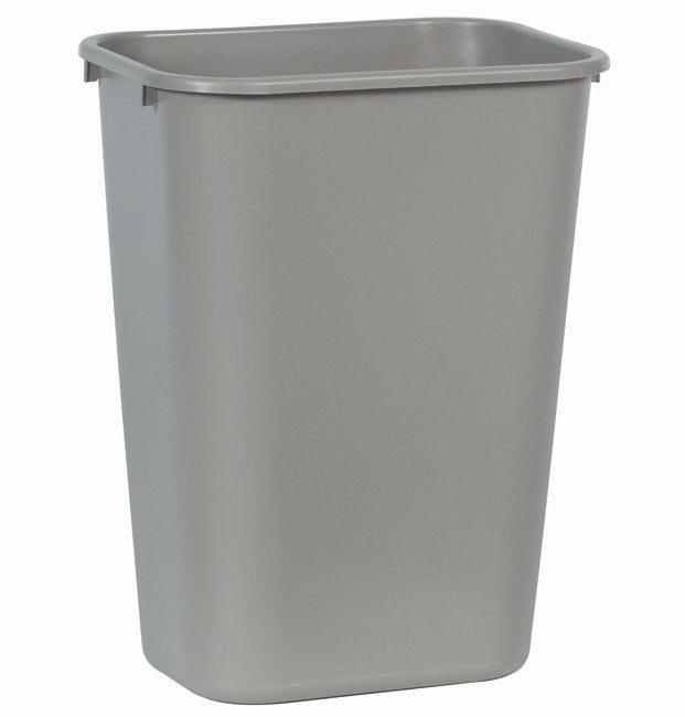 kitchen trash can rubbermaid 10 gallon soft plastic beige trash can