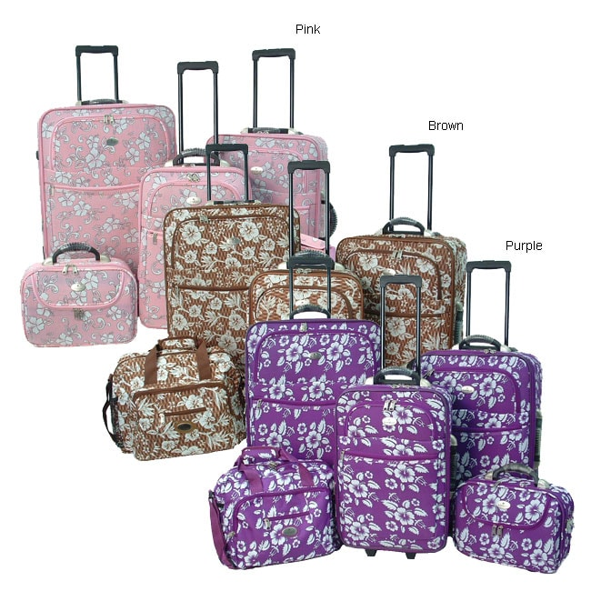 Hawaiian Luggage Hawaiian Print 4-piece Luggage