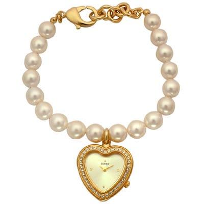 Guess Watch Pearl Bracelet Faux Pearl Bracelet Watch
