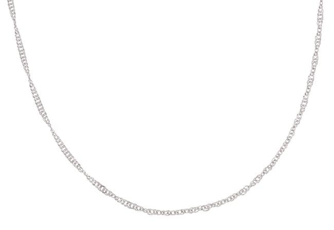 Fremada Platinum 18-inch Singapore Necklace
