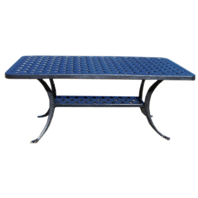Threshold Cast Aluminum Coffee Table: Cast Aluminum Outdoor Coffee Table