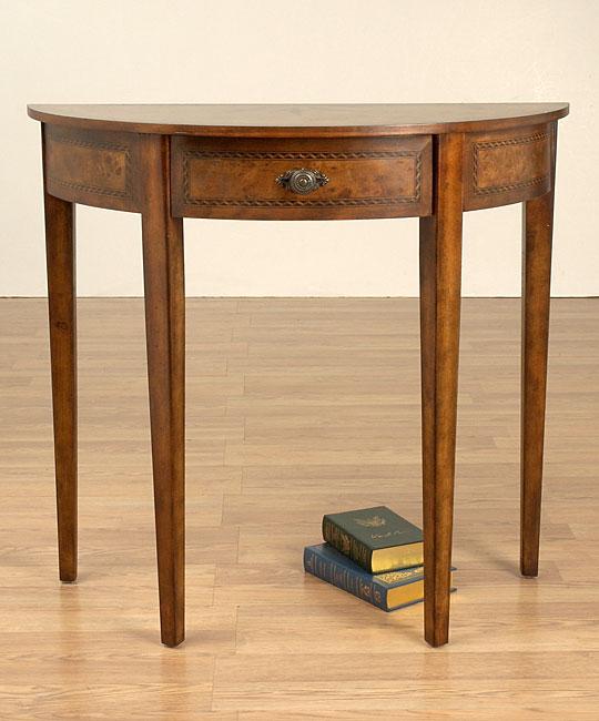 inlaid sunburst half circle sofa table 10182431 shopping great deals on. Black Bedroom Furniture Sets. Home Design Ideas