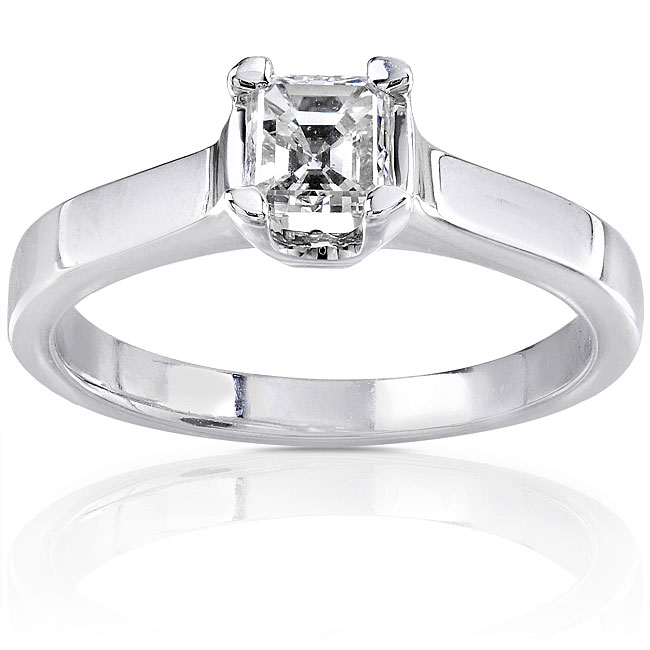 Eziba Collection 14k Gold 1/2ct TDW Asscher Diamond Solitaire Ring at Sears.com