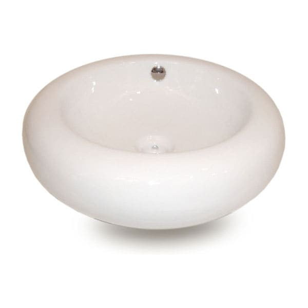 Fontaine Round Porcelain Sink Set w/ Drain Assembly