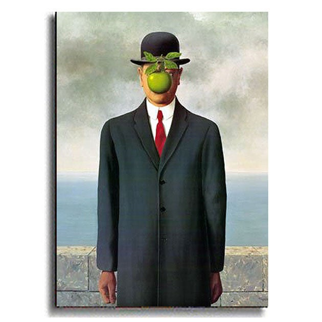 The Son of Man by Magritte Stretched Canvas Art