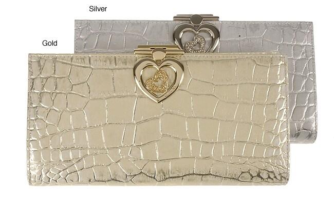 Lovcat Croc Glamour Women's Clutch Wallet