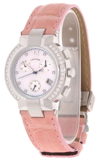 Concord La Scala Women's Diamond Chronograph Watch