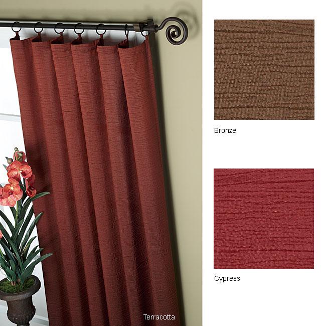 Mackenzie 84-inch Ring Top Window Curtain Panel Pair