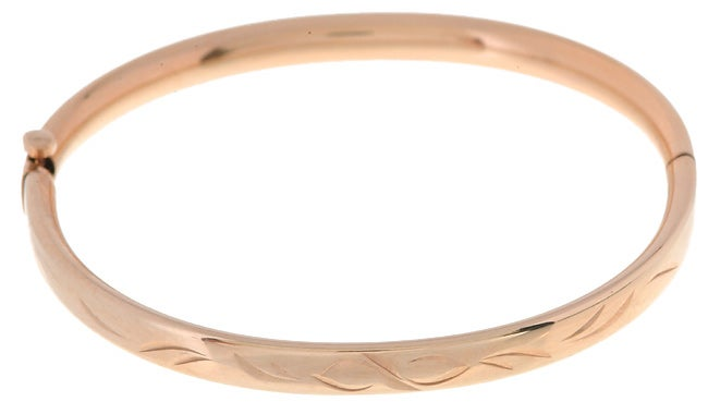14k Goldfill Engraved Baby Bangle Bracelet