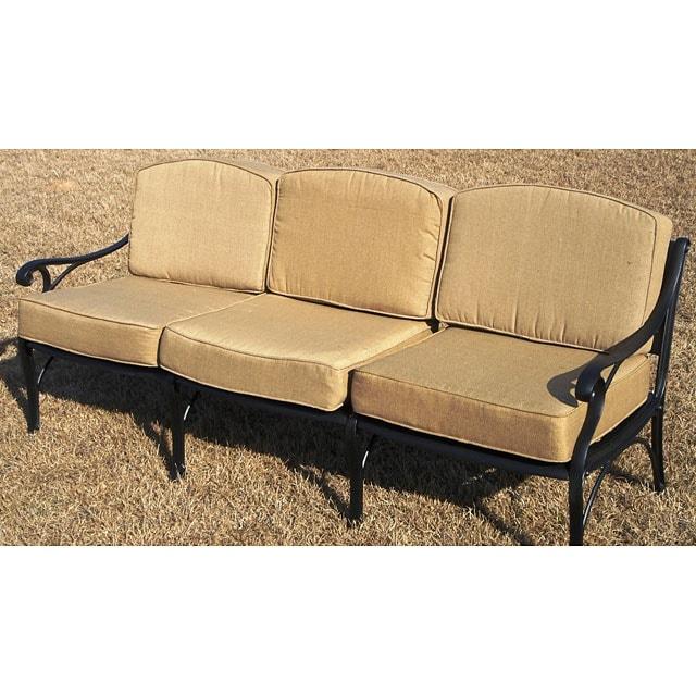 Cast Aluminum Cushioned Outdoor Sofa