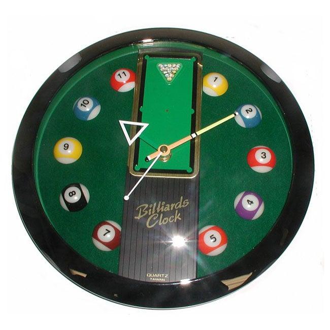 Billiards Decorative Game Room Clock