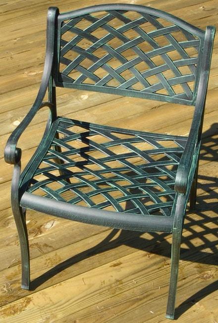 Nassau Green Cast Aluminum Dining Chair
