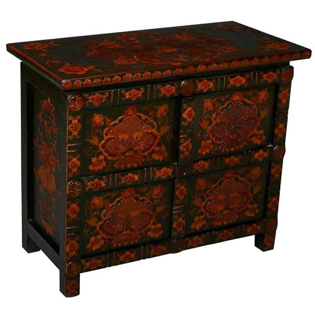 Antique Style Tibetan Dragons Cabinet