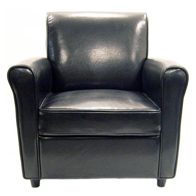 Anderson Black Full Bi-cast Leather Club Chair