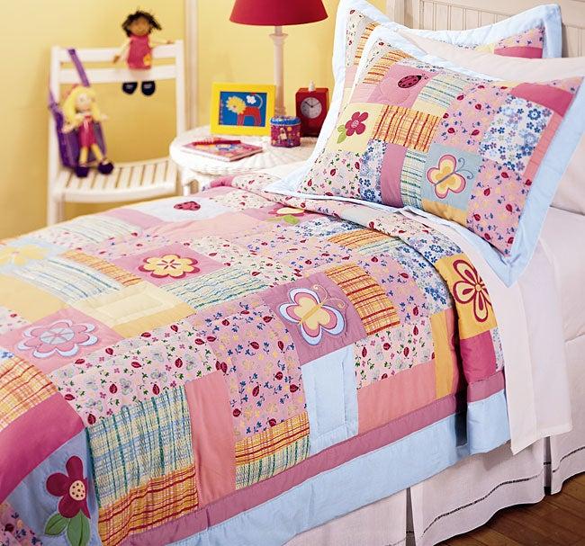 Bubblegum Garden Quilt Set