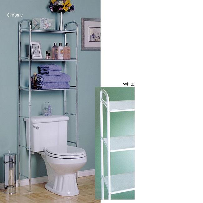 Over the Toilet Three-tier Shelf