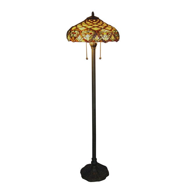 Tiffany style baroque floor lamp 10249277 overstock for Overstock tiffany floor lamp