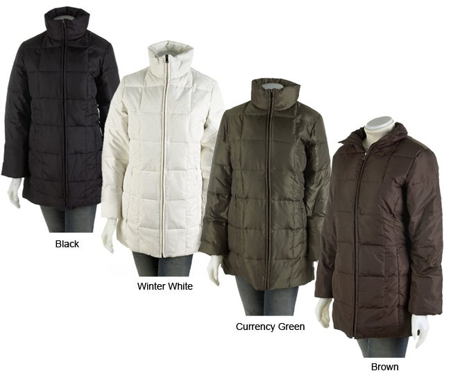 O-Zone Women's Box Quilted Down Coat