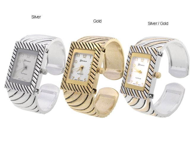 Geneva Platinum Accented Bracelet Bangle Watch