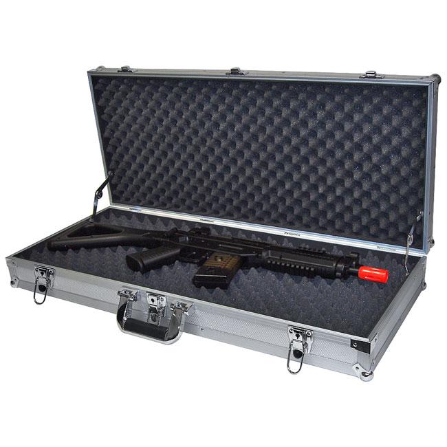 ... Woodmark Gun Cabinet By Silver Hard Sided Assault Rifle Case 10275194  ...