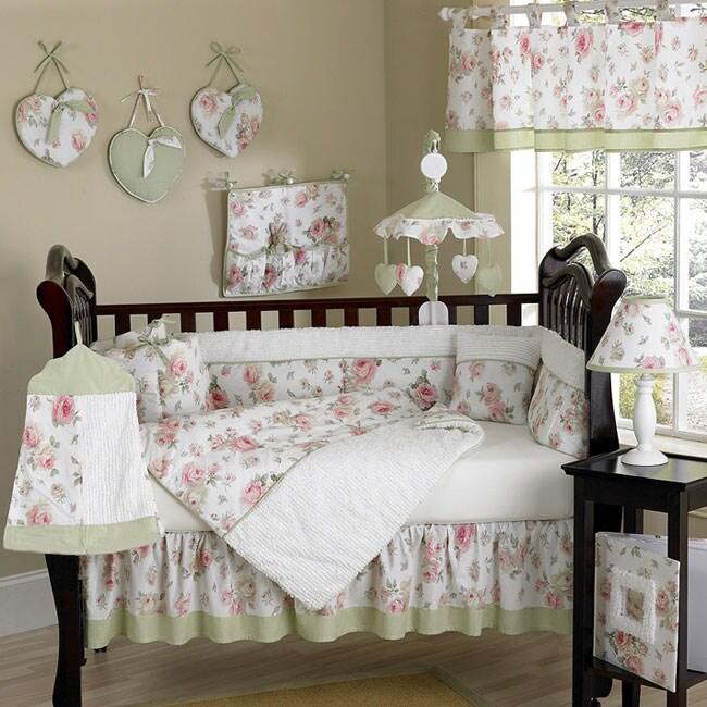 Riley Roses 12-piece Crib Bedding Set