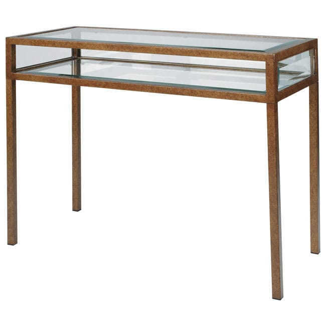 Foyer Table Glass Top : Collector s glass top hall table  overstock