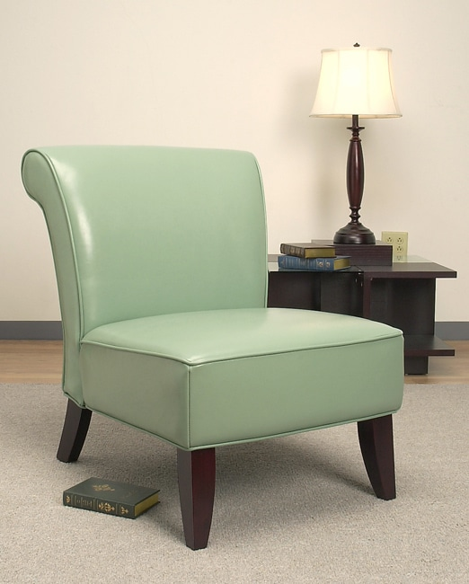 Garland Aqua Leather Chair