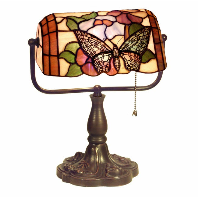 Warehouse of Tiffany Tiffany Style Banker Butterfly Desk Lamp at Sears.com