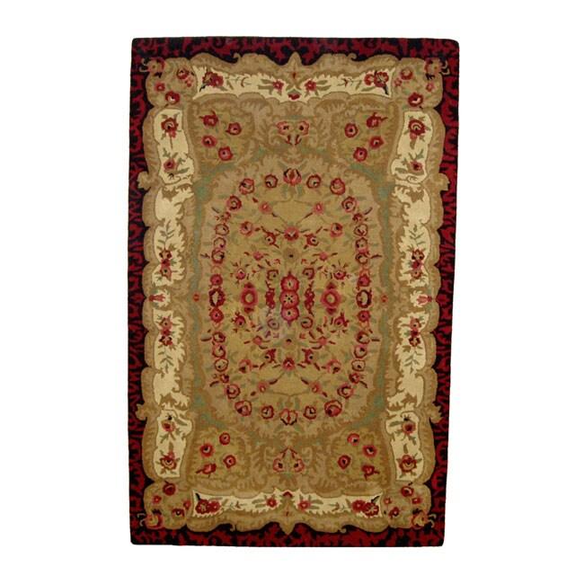 Hand-tufted Savonnerie Wool Rug (5' x 8')