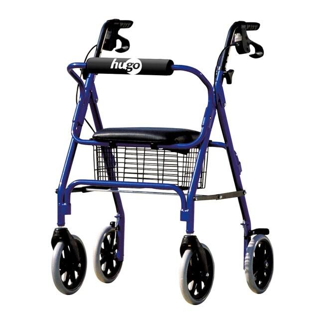 Hugo Blue Seated Rolling Walker
