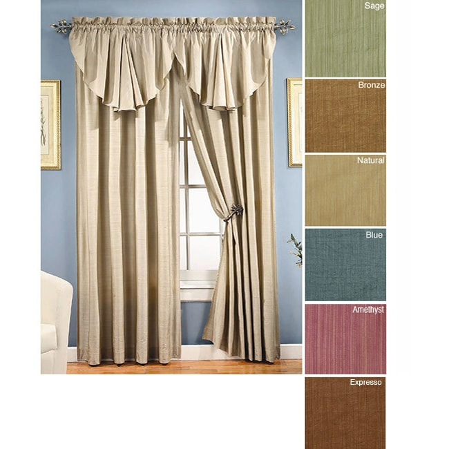 Faux Silk Reflections Pole Top 54-inch Curtain Panel Pair