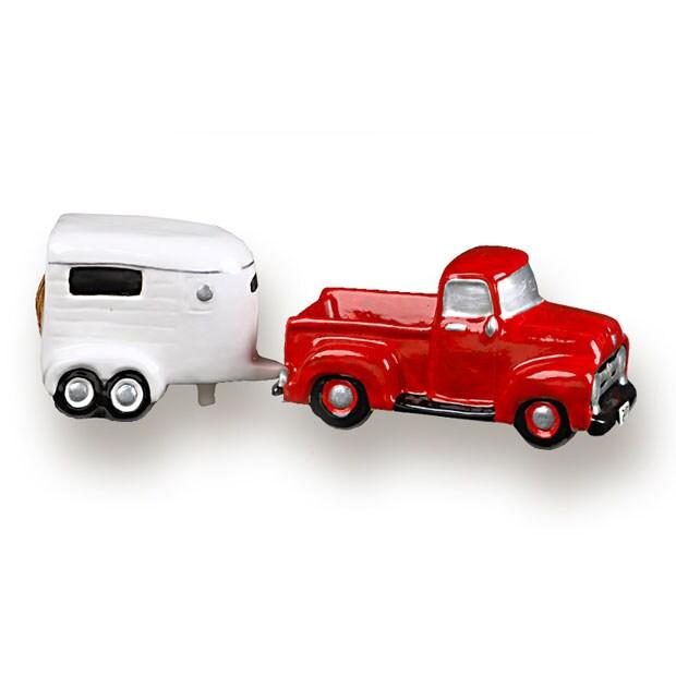 Truck & Horse Trailer Salt & Pepper Shaker Set