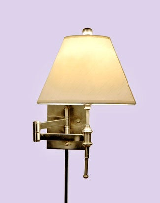 Brushed Nickel 1 Light Swing Arm Wall Sconce 10357802