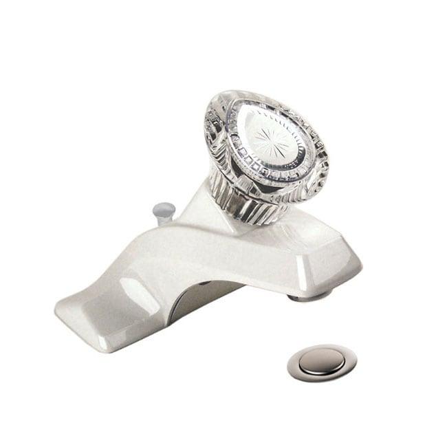 Moen Chateau White 4 Inch Bathroom Faucet And Drain