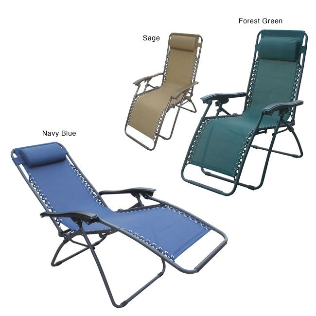 Deluxe Zero Gravity Outdoor Folding Recliner (Set of 2)