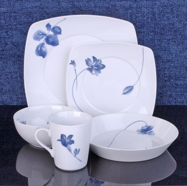 studio nova blue tang 20 piece dinnerware set 10376332
